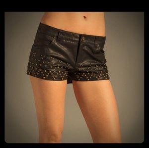 Free people Rocker vegan leather shorts